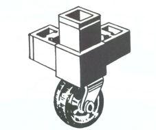 3-Way Corner for Casters - Tubing Connectors - Aluminum